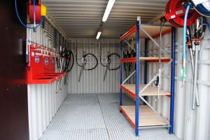 Inrichting container