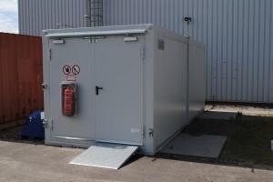 Atex opslagcontainer, brandwerend, volledig ingericht